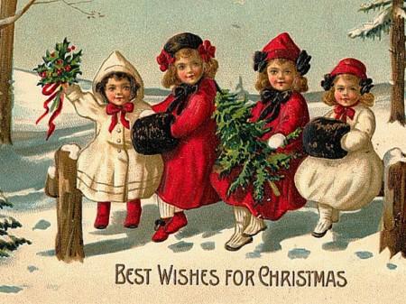 Immagini Vintage Natale.Nella Notte Di Natale Noelia